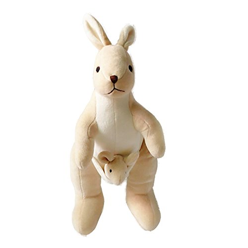 Lovely Carton Kangaroo Plush Toy Soft Animal Organic Cotton Baby Kids Adults ToysGreat Gift for Boys ang Girls
