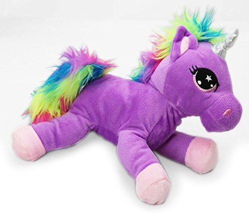 Snuggle Pals Plush Rainbow Unicorn Soft Toy ~ Purple by Carousel