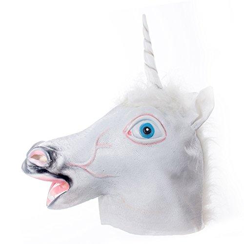 Unicorn Horse Head Mask IC ICLOVER Novelty Halloween Animal Cosplay Mask Prop