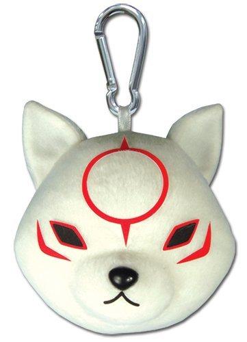 Den Okami - Chibiterasu stuffed animal key chain  clip-on Okami Den - Chibiterasu Plush Keychain  Clip-On