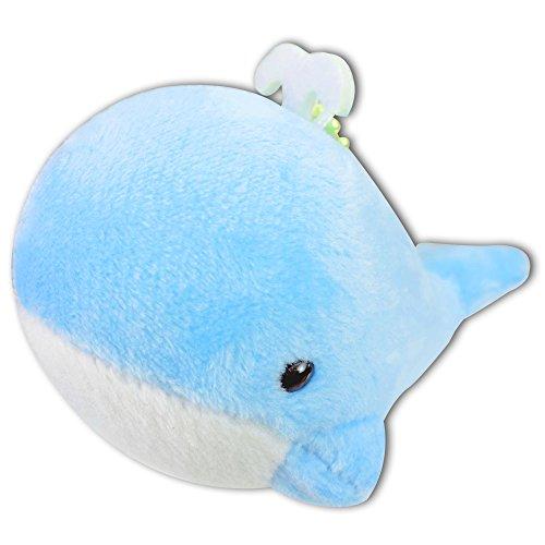 Light Blue Whale Splash Water Soft Plush Stuffed Animals Keychain Cute Toy New