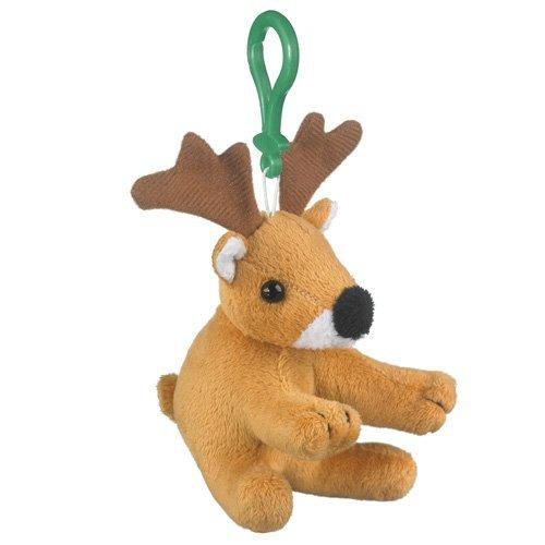 5 Whitetailed Deer Plush Stuffed Animal Clip Keychain