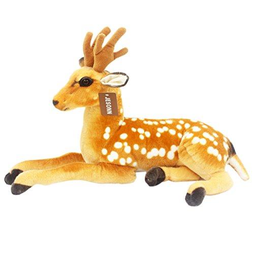 JesonnSimulation Stuffed Plush Animal Toy DeerBrown23660CM1PC