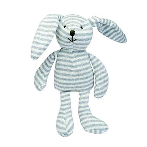 Elegant Baby Mini Stripes Plush Bunny Toy Grey