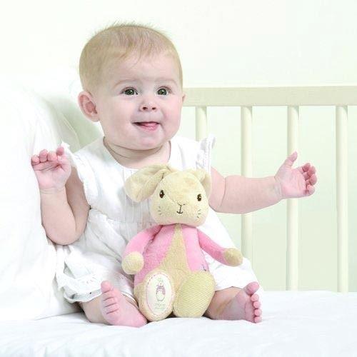 Official Beatrix Potter My First Flopsy Bunny Plush Toy  Pink Soft Newborn Baby Rabbit Plushy