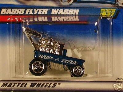 Mattel Hot Wheels 1999 164 Scale Blue Radio Flyer Wagon Die Cast Car Collector 837