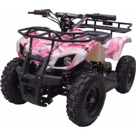 XtremepowerUS Mini Electric Sonora Quad Battery-Powered ATV Pink