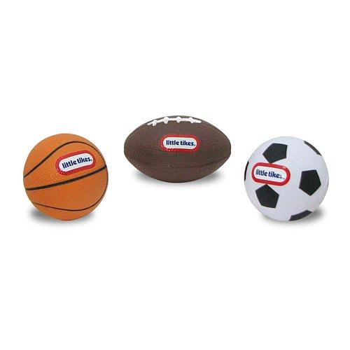 Little Tikes Micro Foam Sport Ball Set - 3-Pack Football Basketball Soccerball