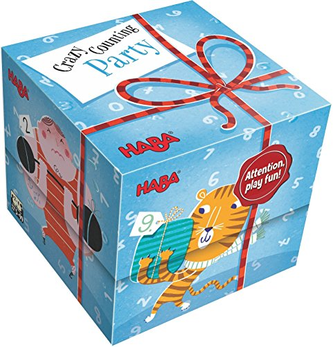 HABA Gift Cube Game - Crazy Counting Party - Helps Develop Math Counting Skills for Ages 4 and Up