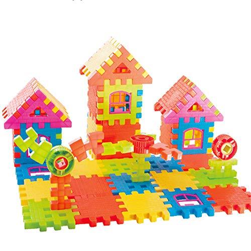 WUSHIYU Wooden Building Blocks Set Magnetic Building Blocks for Kids Construction Tiles for Children 108Pcs Kids Birthday Gift Classic Build Play ToyPremium Wooden Building B