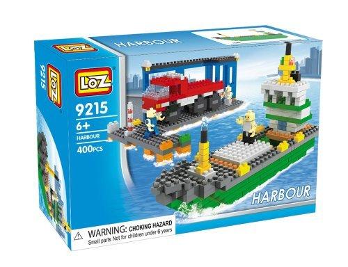 Loz Micro Blocks Harbour Model Small Building Block Set Nanoblock Compatible 400 pcs Makes a Great Stocking Stuffer