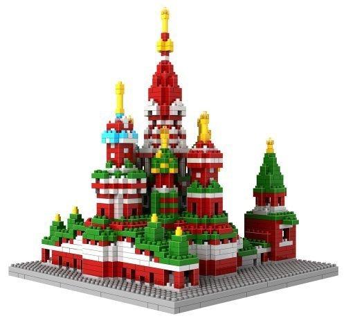 Loz Micro Blocks Vasile Assumption Cathedral Model Small Building Block Set Nanoblock Compatible 1870 pcs by LOZ