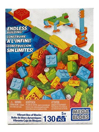 Mega Bloks Set of 130 Small Building Blocks Vibrant Box