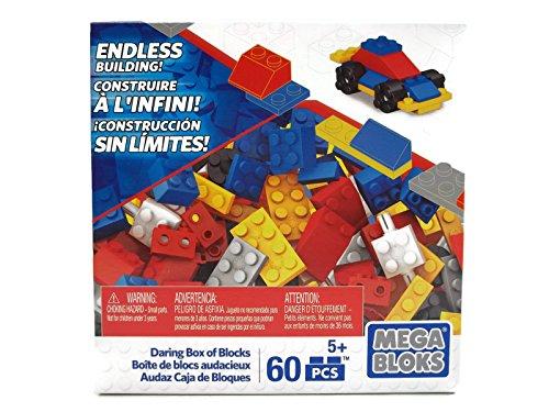 Mega Bloks Set of 60 Small Building Blocks Daring Box