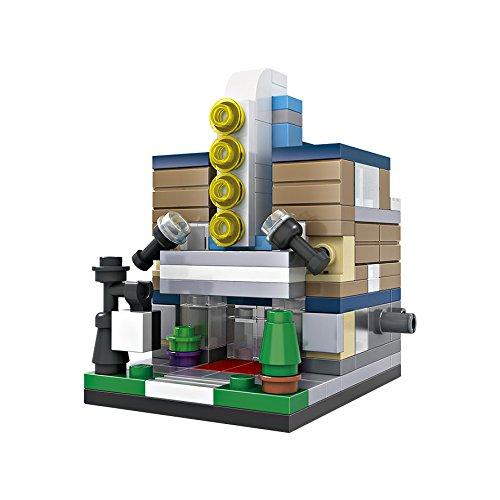 Micro-Brickland Mini Model Movie Theater Building Bricks Mini-Sized 3D Architecture Small Building Block Set 146 Pieces