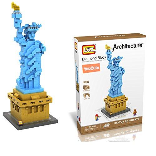 YouCute Loz Micro Blocksstatue of liberty Small Building Block Set Nanoblock Compatible 820 pcs