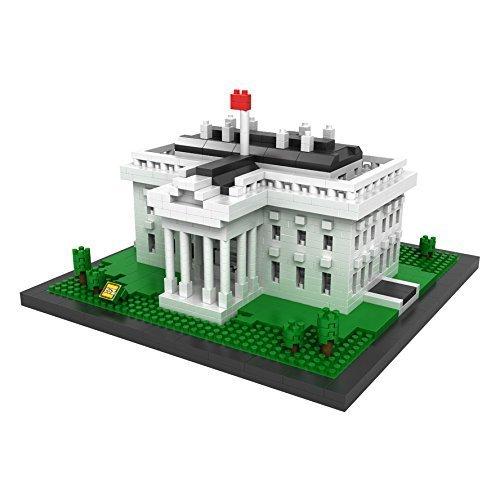 YouCute Loz Micro Blocksthe white house Small Building Block Set Nanoblock Compatible 1170 pcs