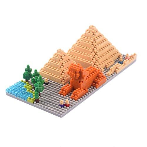 YouCute Micro BlocksPyramids Small Building Block Set LOZ Nanoblock Compatible