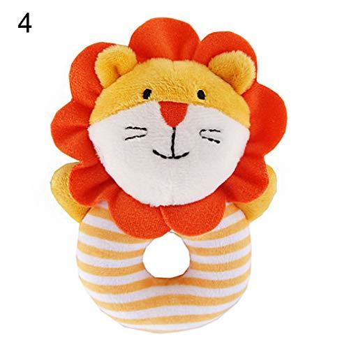 LAPUTA Cute Soft Infant Rattle Sound Hand Grip Shake Bell Stuffed Animal Baby Toy Gift - 4