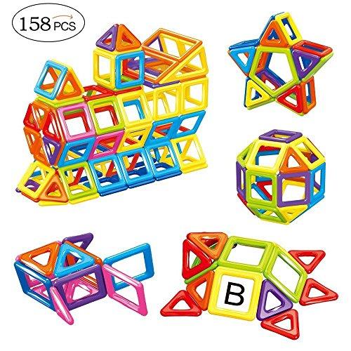 TUMAMA 158PCS MINI Magnetic Building Blocks Toys Set Educational Magnet Bricks Tiles Construction Stacking Kit For KidsMagnet Building TilesEducational Building Blocks