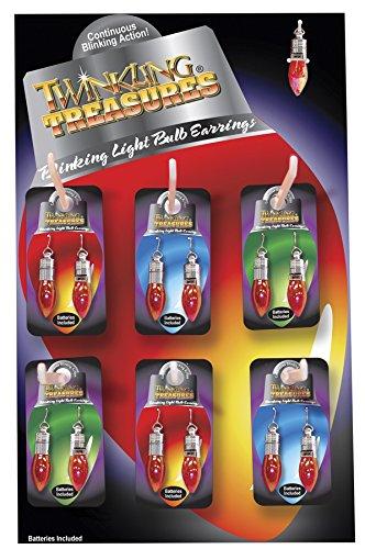D&D Distributing Blinking Light Bulb Earrings