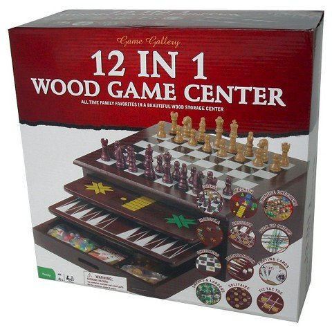 Game Gallery 12 in 1 Wood Game House