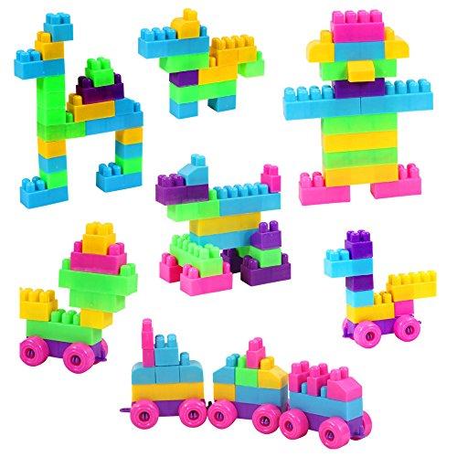 ABADA MATASA 250-Pieces Colorful Plastic Building Blocks Set Baby Toys