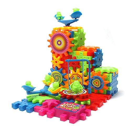 ABADA MATASA Plastic Building Blocks Set Electric Rotating Blocks Baby Toys 81-Pieces