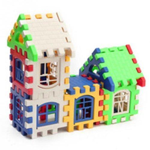Baby Children House Building Blocks Educational Learning Construction Developmental Toy Set Brain Game