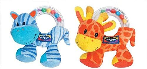 A Pair Baby Giraffe Zebra Educational Wrist Rattles Baby Toys Infant Soft Toy Baby Wrist Rattles Kids Beauty Finders Developmental About 12cm