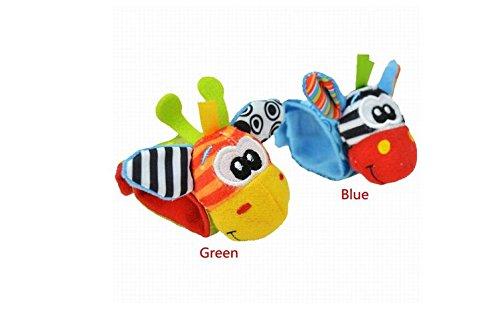 Zebra Deer a Pair Baby Infant Soft Toy Baby Wrist Rattles Kids Beauty Finders Developmental