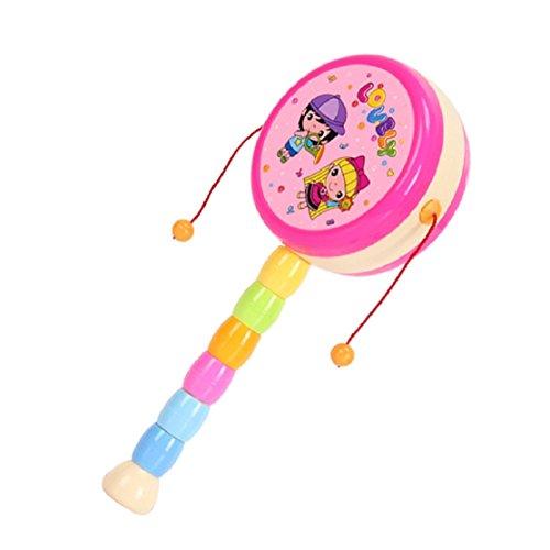 Axiba Newborn Infant Baby Girl Boy Hand Rattles Pellet Drum Musical Toy