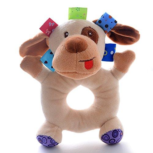 Lazada Baby Cartoon Dog Animal Plush Hand Rattle Toys Dolls