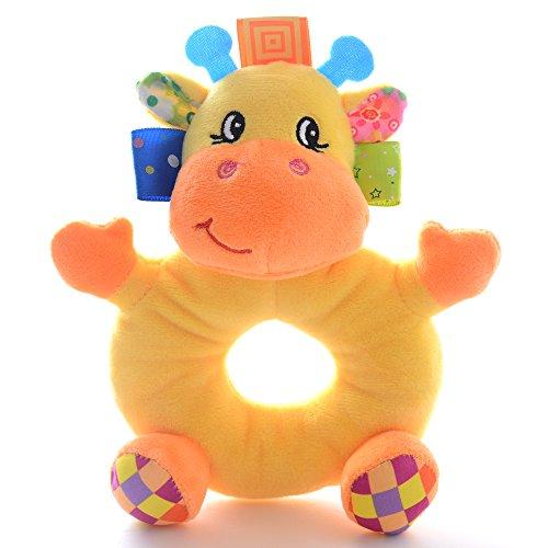 Lazada Baby Cartoon Giraffe Animal Plush Hand Rattle Toys Dolls