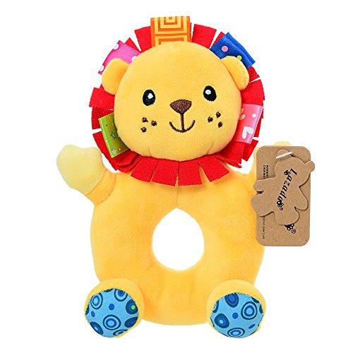 Lazada Baby Cartoon Leo Lion Stuffed Animal Plush Hand Rattle Dolls Toys