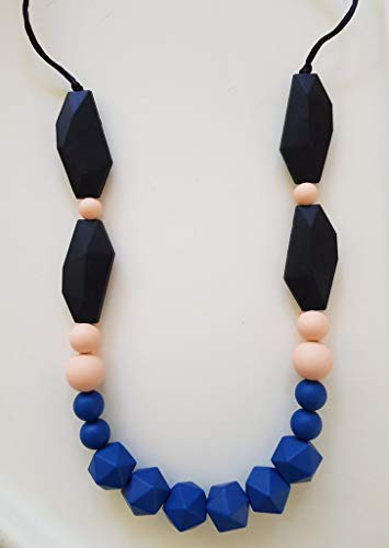 ima jewelry Nicole Chewable Silicone Baby Teething Necklace BPA Free  Chew Beads - Safe for Baby  Chew Bead Necklace