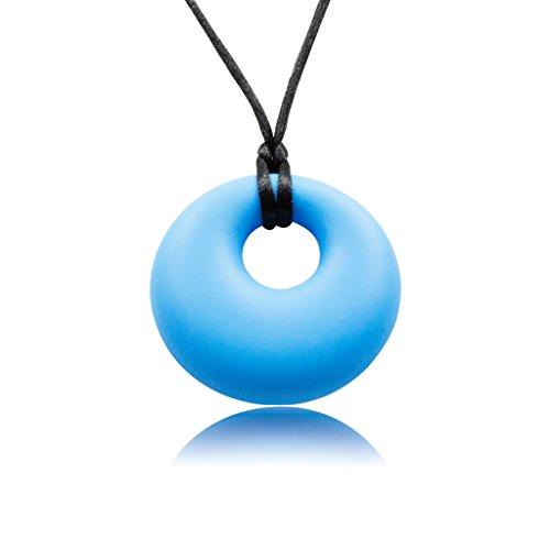 Munchables Silicone Teething Pendant - Yummy-gummy Blue