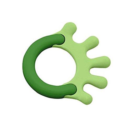 iPlay Inc Green Sprouts Cornstarch Hand Teether Green 1 Teether - 2pc