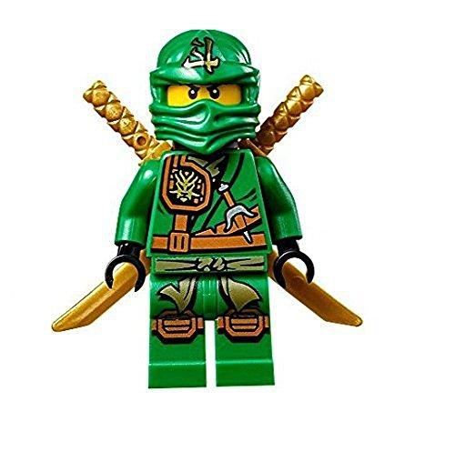 LEGO Ninjago Minifigure - Lloyd Zukin Robe Jungle Green Ninja with Dual Gold Swords 70749