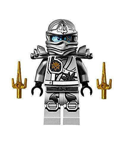 LEGO Ninjago Minifigure - Zane Titanium Ninja with Gold Sai weapons 70748