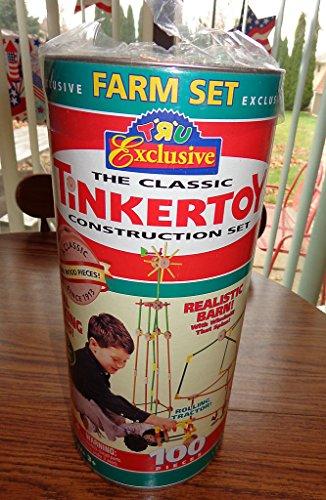TRU Exclusive Farm Tinkertoys Tin Tinker Toys Toys R Us Very Rare 100 pc