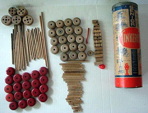 Vintage Senior Tinkertoy Set 2208049- 114 Pieces