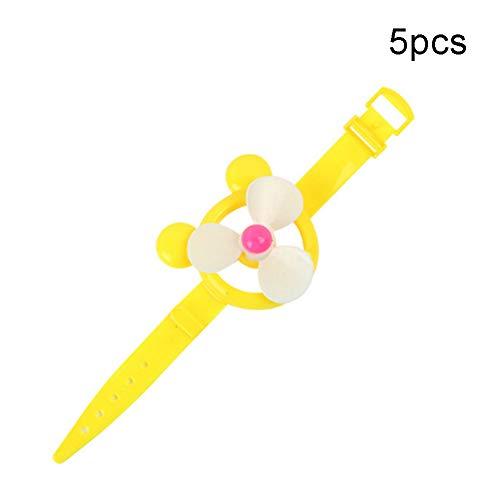Fanthee Bracelet Wristband5Pcs Children Slap Bracelet Wristband Windmill Toy Birthday Gift Party Favors Random Color 5pcs