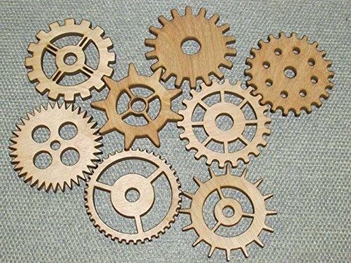 Lot 1 Includes 8 3 Custom Wood Wooden Gears Gear COG Steampunk Wall Art