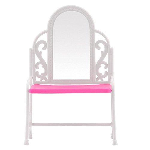 Barbies Dolls Furniture - TOOGOOR Dressing Table Chair Accessories Set For Barbies Dolls Bedroom Furniture