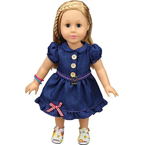 Shero 14 - 16 Inches Baby Dolls Dress Denim Skirt