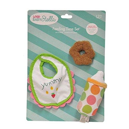 Manhattan Toy Wee Baby Stella Feeding Set Soft Baby Doll Accessory for 12 Wee Baby Stella Dolls