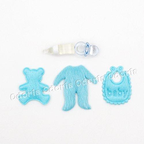 Odoria 112 Miniature 5PCS Baby Dolls Accessories Set Bib Pacifier Baby Bottle Dollhouse Decoration Accessories