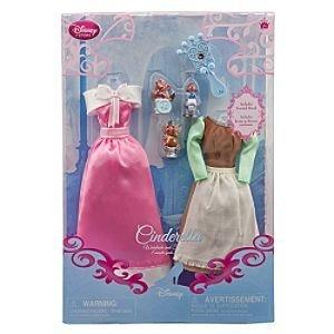 Disney Princess Cinderella Doll Wardrobe and Friends Set -- 6-Pc