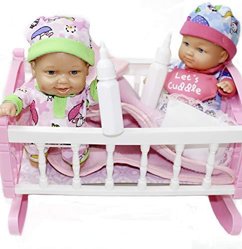 Uneeda Baby First Born Twin Dolls Doll Crib Set